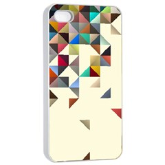 Retro Pattern Of Geometric Shapes Apple iPhone 4/4s Seamless Case (White)