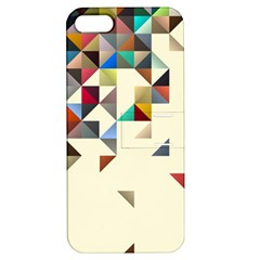 Retro Pattern Of Geometric Shapes Apple iPhone 5 Hardshell Case with Stand