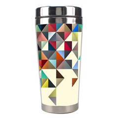 Retro Pattern Of Geometric Shapes Stainless Steel Travel Tumblers
