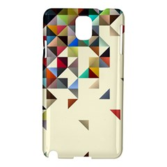 Retro Pattern Of Geometric Shapes Samsung Galaxy Note 3 N9005 Hardshell Case