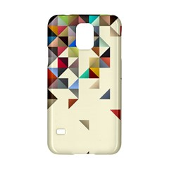 Retro Pattern Of Geometric Shapes Samsung Galaxy S5 Hardshell Case