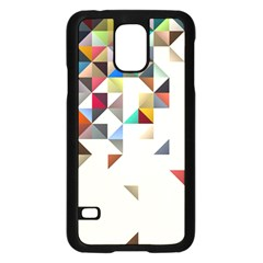 Retro Pattern Of Geometric Shapes Samsung Galaxy S5 Case (Black)