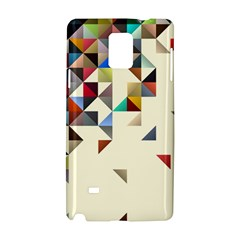 Retro Pattern Of Geometric Shapes Samsung Galaxy Note 4 Hardshell Case