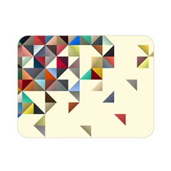 Retro Pattern Of Geometric Shapes Double Sided Flano Blanket (Mini)
