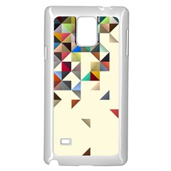 Retro Pattern Of Geometric Shapes Samsung Galaxy Note 4 Case (White)