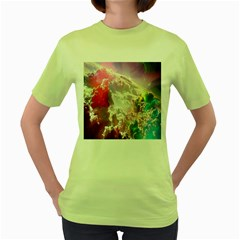 Clouds Multicolor Fantasy Art Skies Women s Green T-Shirt