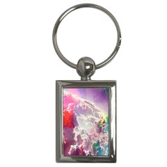 Clouds Multicolor Fantasy Art Skies Key Chains (Rectangle)