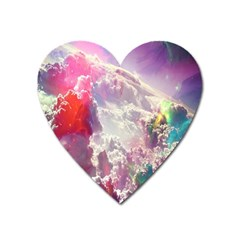 Clouds Multicolor Fantasy Art Skies Heart Magnet