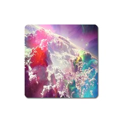 Clouds Multicolor Fantasy Art Skies Square Magnet