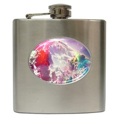 Clouds Multicolor Fantasy Art Skies Hip Flask (6 oz)