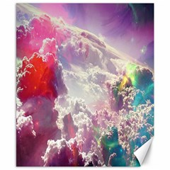 Clouds Multicolor Fantasy Art Skies Canvas 8  x 10