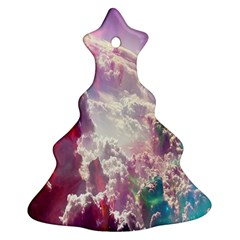 Clouds Multicolor Fantasy Art Skies Christmas Tree Ornament (Two Sides)