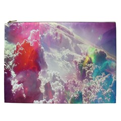 Clouds Multicolor Fantasy Art Skies Cosmetic Bag (XXL)