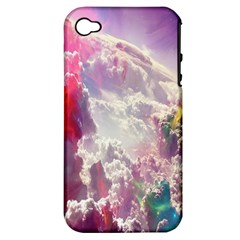 Clouds Multicolor Fantasy Art Skies Apple iPhone 4/4S Hardshell Case (PC+Silicone)