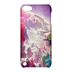 Clouds Multicolor Fantasy Art Skies Apple iPod Touch 5 Hardshell Case with Stand