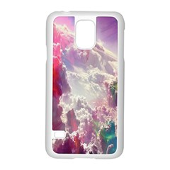 Clouds Multicolor Fantasy Art Skies Samsung Galaxy S5 Case (White)