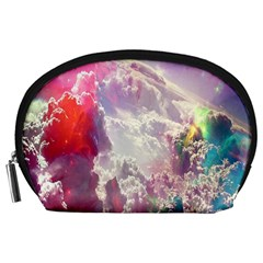 Clouds Multicolor Fantasy Art Skies Accessory Pouches (Large)