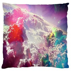 Clouds Multicolor Fantasy Art Skies Standard Flano Cushion Case (Two Sides)