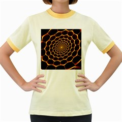 Honeycomb Art Women s Fitted Ringer T-Shirts