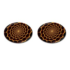 Honeycomb Art Cufflinks (Oval)