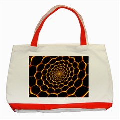 Honeycomb Art Classic Tote Bag (Red)