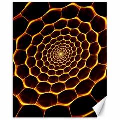 Honeycomb Art Canvas 11  x 14