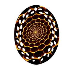 Honeycomb Art Oval Filigree Ornament (Two Sides)