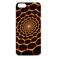 Honeycomb Art Apple iPhone 5 Seamless Case (White)