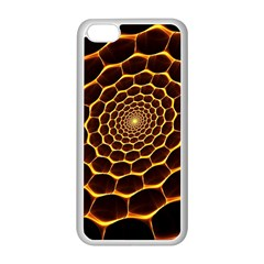 Honeycomb Art Apple iPhone 5C Seamless Case (White)