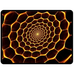 Honeycomb Art Double Sided Fleece Blanket (Large)
