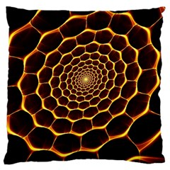 Honeycomb Art Standard Flano Cushion Case (Two Sides)