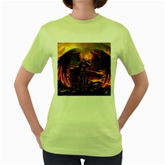 Fantasy Art Fire Heroes Heroes Of Might And Magic Heroes Of Might And Magic Vi Knights Magic Repost Women s Green T-Shirt