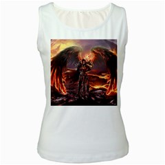 Fantasy Art Fire Heroes Heroes Of Might And Magic Heroes Of Might And Magic Vi Knights Magic Repost Women s White Tank Top