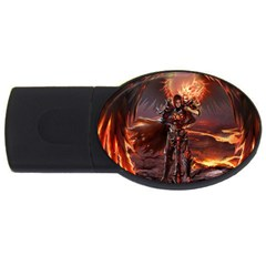 Fantasy Art Fire Heroes Heroes Of Might And Magic Heroes Of Might And Magic Vi Knights Magic Repost USB Flash Drive Oval (1 GB)
