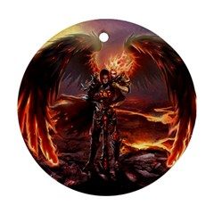 Fantasy Art Fire Heroes Heroes Of Might And Magic Heroes Of Might And Magic Vi Knights Magic Repost Round Ornament (Two Sides)
