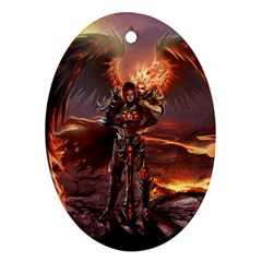 Fantasy Art Fire Heroes Heroes Of Might And Magic Heroes Of Might And Magic Vi Knights Magic Repost Oval Ornament (Two Sides)