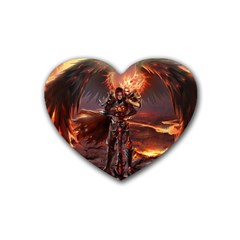 Fantasy Art Fire Heroes Heroes Of Might And Magic Heroes Of Might And Magic Vi Knights Magic Repost Heart Coaster (4 pack)