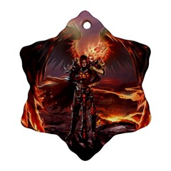 Fantasy Art Fire Heroes Heroes Of Might And Magic Heroes Of Might And Magic Vi Knights Magic Repost Ornament (Snowflake)