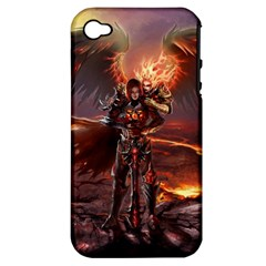 Fantasy Art Fire Heroes Heroes Of Might And Magic Heroes Of Might And Magic Vi Knights Magic Repost Apple iPhone 4/4S Hardshell Case (PC+Silicone)