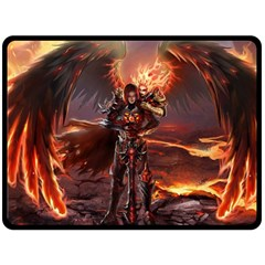 Fantasy Art Fire Heroes Heroes Of Might And Magic Heroes Of Might And Magic Vi Knights Magic Repost Double Sided Fleece Blanket (Large)