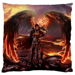 Fantasy Art Fire Heroes Heroes Of Might And Magic Heroes Of Might And Magic Vi Knights Magic Repost Large Flano Cushion Case (Two Sides)