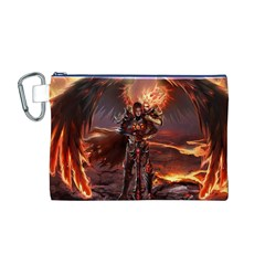 Fantasy Art Fire Heroes Heroes Of Might And Magic Heroes Of Might And Magic Vi Knights Magic Repost Canvas Cosmetic Bag (M)