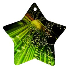 Electronics Machine Technology Circuit Electronic Computer Technics Detail Psychedelic Abstract Pattern Ornament (Star)