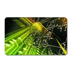 Electronics Machine Technology Circuit Electronic Computer Technics Detail Psychedelic Abstract Pattern Magnet (Rectangular)