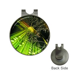 Electronics Machine Technology Circuit Electronic Computer Technics Detail Psychedelic Abstract Pattern Hat Clips with Golf Markers