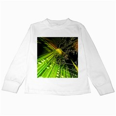 Electronics Machine Technology Circuit Electronic Computer Technics Detail Psychedelic Abstract Pattern Kids Long Sleeve T-Shirts
