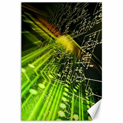 Electronics Machine Technology Circuit Electronic Computer Technics Detail Psychedelic Abstract Pattern Canvas 12  x 18