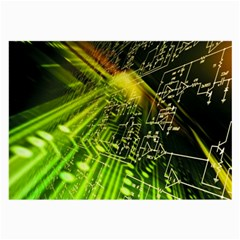 Electronics Machine Technology Circuit Electronic Computer Technics Detail Psychedelic Abstract Pattern Large Glasses Cloth