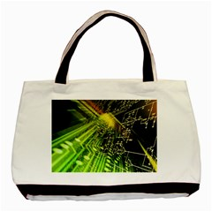 Electronics Machine Technology Circuit Electronic Computer Technics Detail Psychedelic Abstract Pattern Basic Tote Bag (Two Sides)