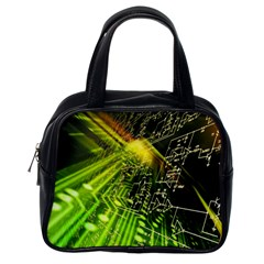 Electronics Machine Technology Circuit Electronic Computer Technics Detail Psychedelic Abstract Pattern Classic Handbags (One Side)